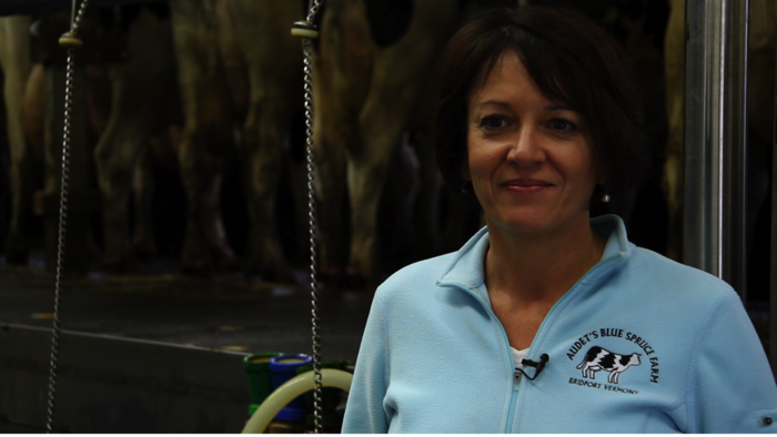 Marie Audet of Blue Spruce Farm (The first Cow Power farm)