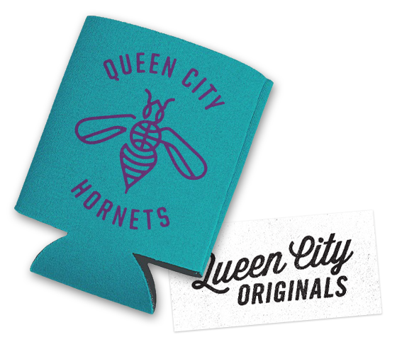 Hornets Koozie and QCO Sticker