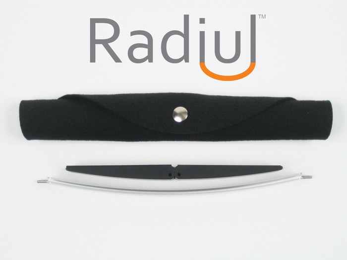 Radiul Mobile is easily transported in its roll-up carrying case