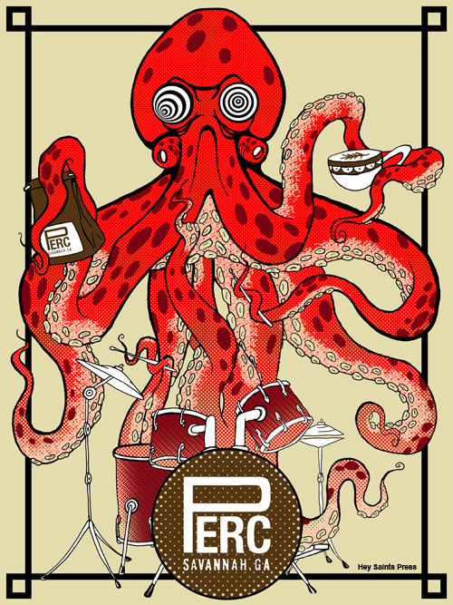 "Elmer Ramos, ""Perctopus"", 6 Color Screenprint Poster 18"" x 24"""