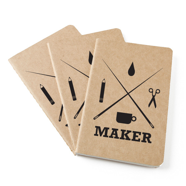 Maker printed Moleskine notebooks