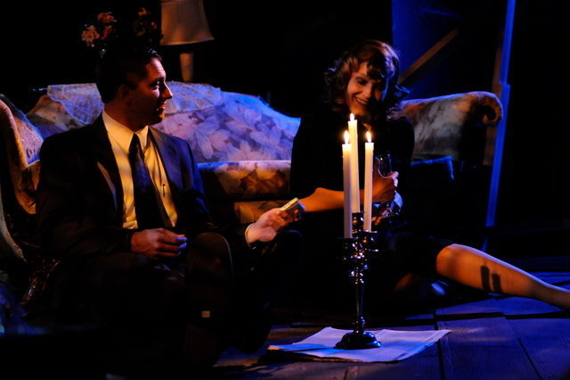 THE GLASS MENAGERIE - March 2010 - This shows was so beautiful. Here pictured is that famous scene between Laura and the Gentleman Caller featuring Stephanie Foster Breinholt and Daryl Ball.