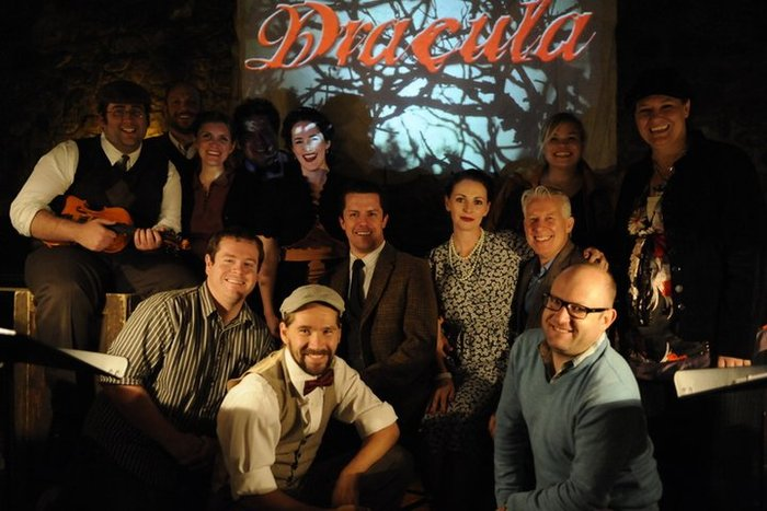 The cast & crew of DRACULA - October 2010 - Wow, this show was so much fun. The space was tight...no, cozy, but we had such exciting crowds each night.
