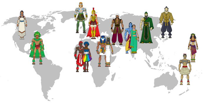 Explore the world through it's heroes!