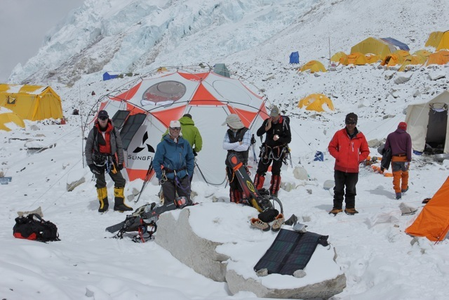 Mountain Trip Guide Services with our LFD 5m Dome Tent at Everest Camp II (21,500 ft) - May 2011