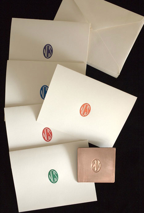 Custom Engraved Monogram Notes.