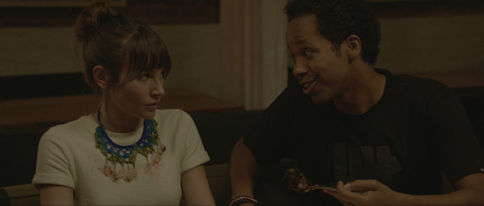 "Jocelin Donahue and Chioke Nassor in ""Cake"""