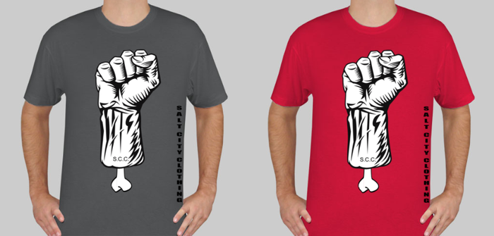 Men's shirts in red or gray
