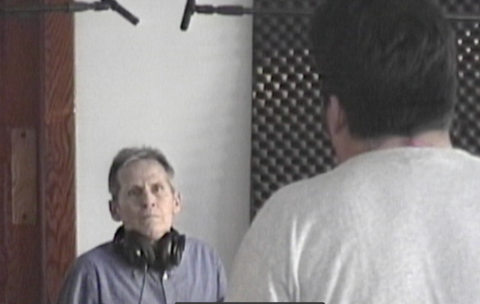 "Still shot of Levon working with Matt from ""Demand Your Independents!"""
