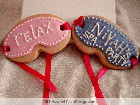 Kids Spa Party Cookies