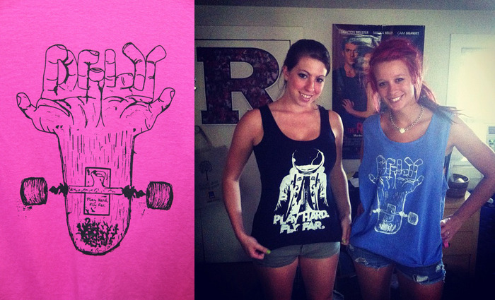 Skateboard Finger (available in women's tank top version too)