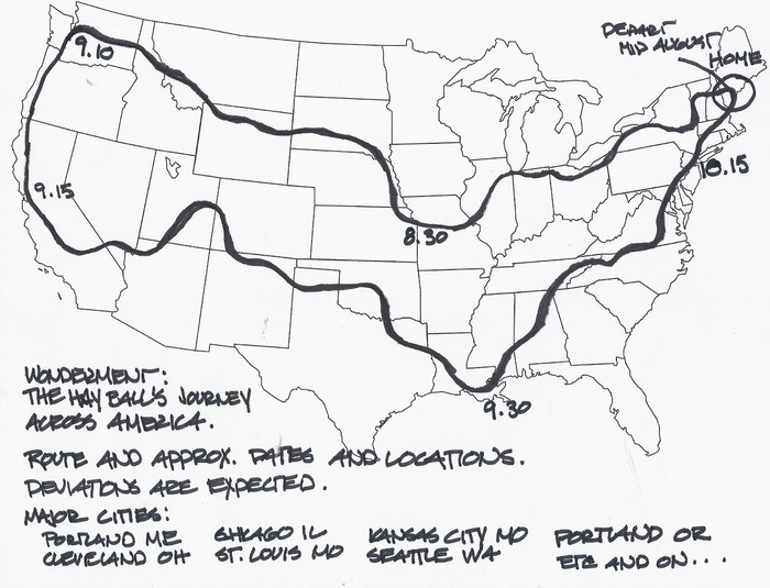 The Hay Ball's Route (approximately)