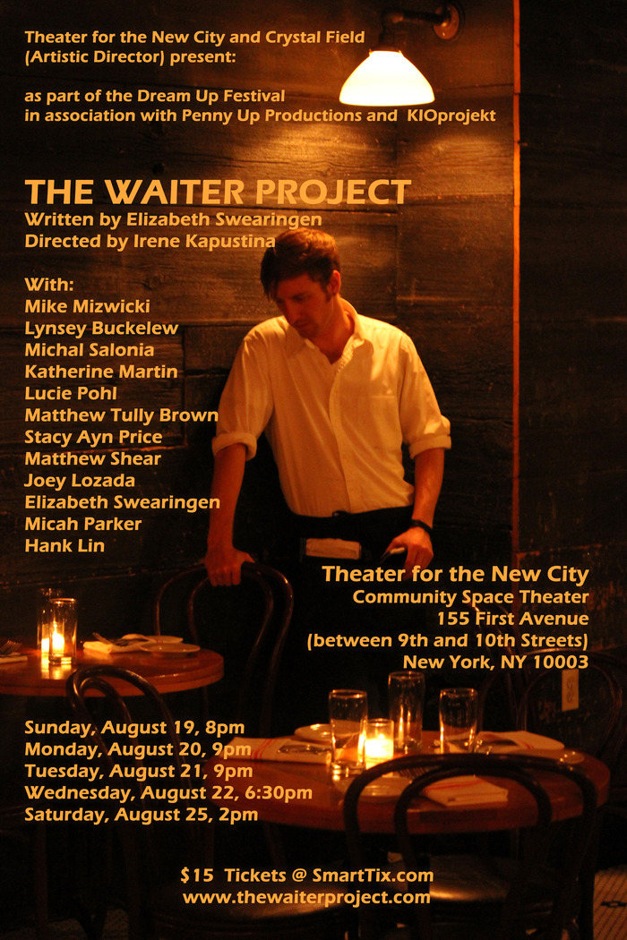 """The Waiter Project"" at Theater for the New City"