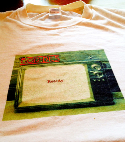 "PICTURE 3: ONLY 1 AVAILABLE! THE ONE AND ONLY ""REALITY"" T SHIRT EVER PRINTED! WORN BY GOD-DES ON NUMEROUS OCCASIONS, MEN'S SIZE XL, ALL COTTON"