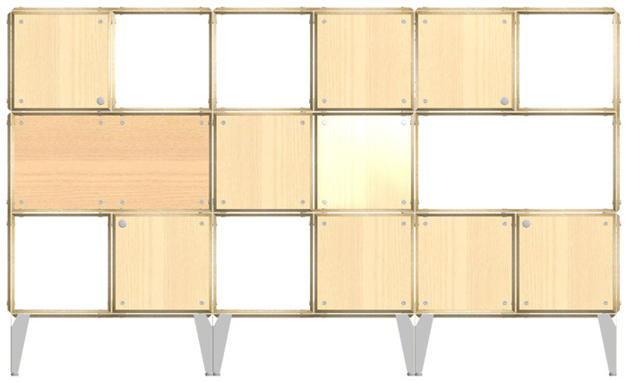 Example of a custom room divider