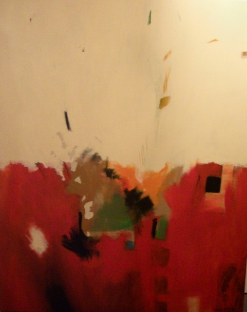 "Red Landscape, 48x60"", available for $600"