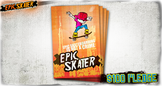 Exclusive Limited Epic Skater Poster by the artist Davidicus from the Guitar Hero series!