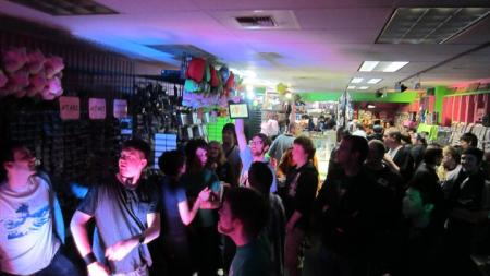 A packed house at one of Pink Gorilla's live music events