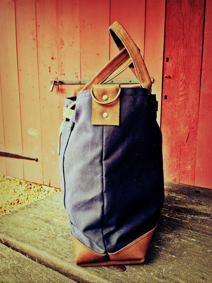 Waxed Canvas and Leather Bag
