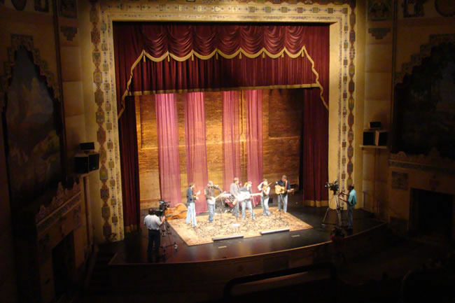 Mountain Heart on the Lincoln Stage during a taping of SOTM