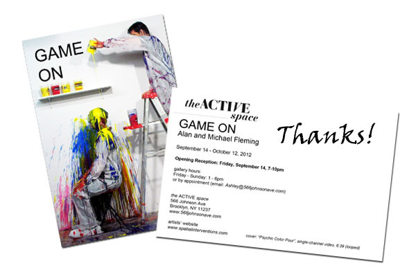 A signed thank you Postcard mailed to your home