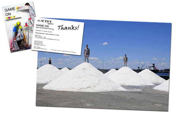"8 x 10 photograph from our most recent performance ""Salt Mounds"" and a signed thank you Postcard mailed to your home."