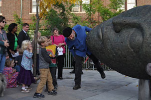 "Dedication of the ""Sleeping Moon"" at Ashmont Station"