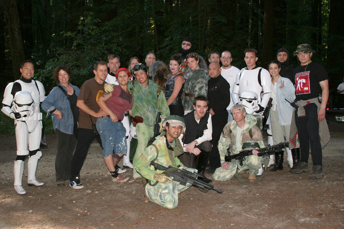 The cast and crew of our Endor shoot
