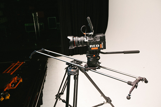 RED EPIC mounted on the Rhino Slider PRO