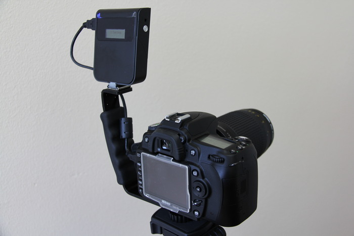 Use an L-bracket to free up the hot shoe for flash