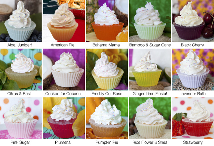 Cupcake Soap Fragrances by Poor & Pretty