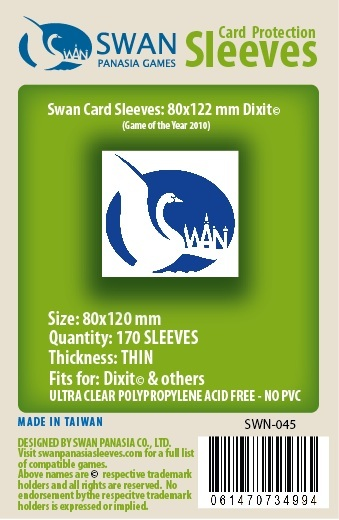 Dixit Card Sleeves: 170 per pack (SWN-045)