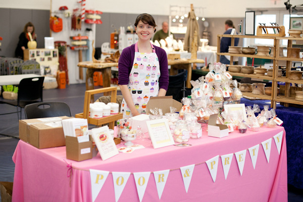 My booth at my first craft fair, October 2011.