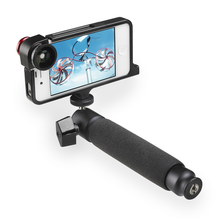 Quarter20 iPhone case for iPhone 4 and 4s with Mini Tadpole and Olloclip® lens system