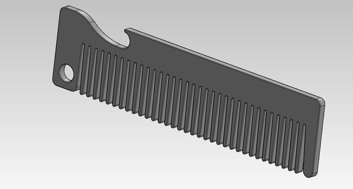 Old Familiar Comb 3D Rendering