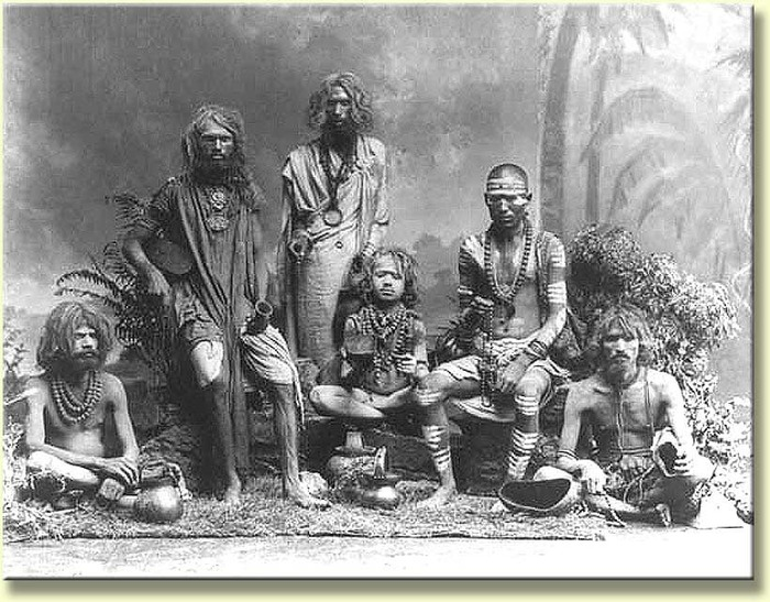 "From the Smithsonian Institute, Washington, D.C., dated 1898, depicting holy men or ""sadhus""."