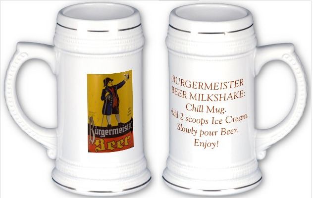 PLEDGE $200 to get the BEER MILKSHAKE RECIPE on our custom designed BEER STEIN!