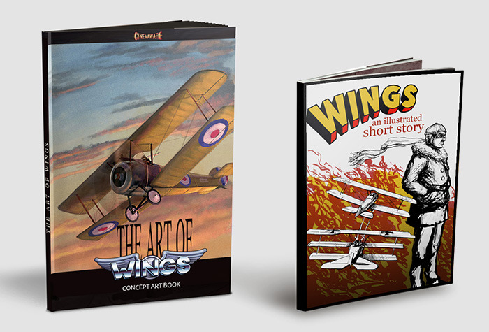 Prize: The Art of Wings booklet & graphic novel (artistic rendition, subject to change)