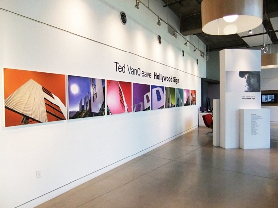 My first Hollywood Sign series exhibited in Los Angeles in 2010