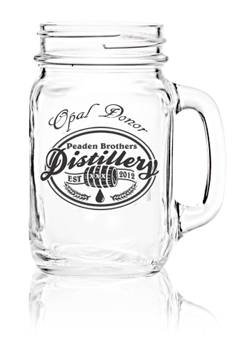 Peaden Brothers Distillery Opal Donor Glass