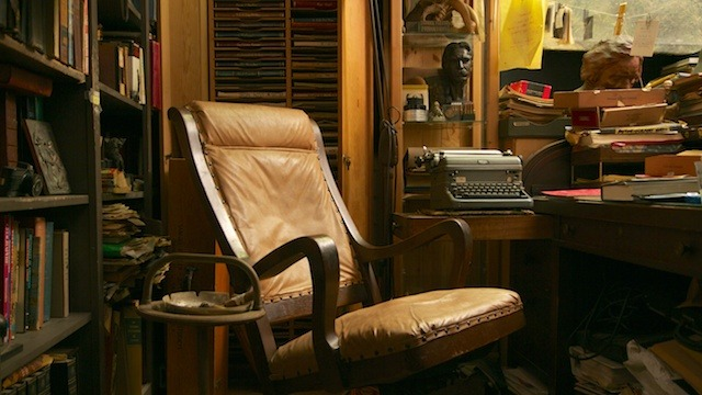 "Sam's office, a place he liked to call ""the shack"""