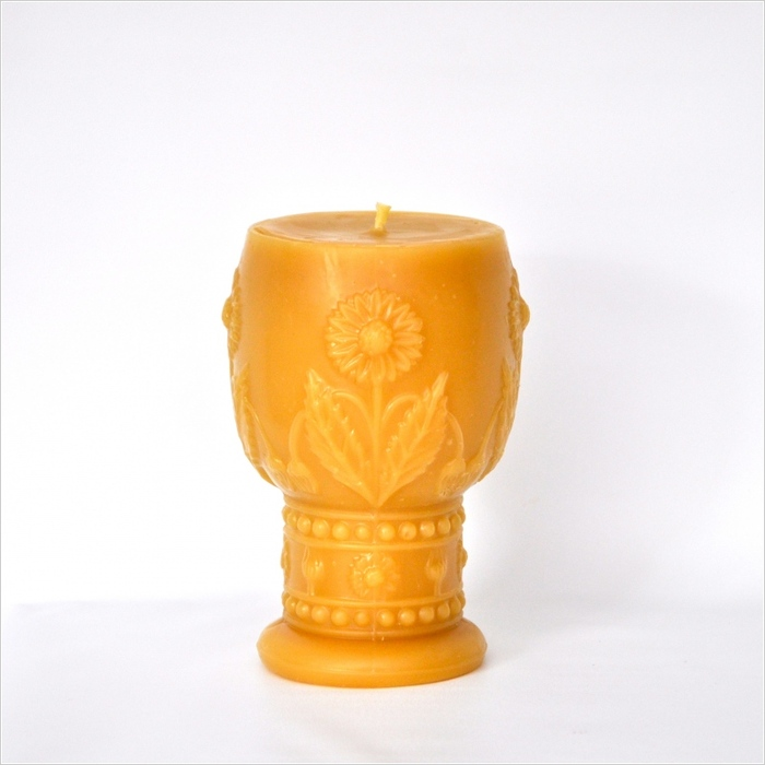 Vintage Pressed Glass Goblet Pillar Candle