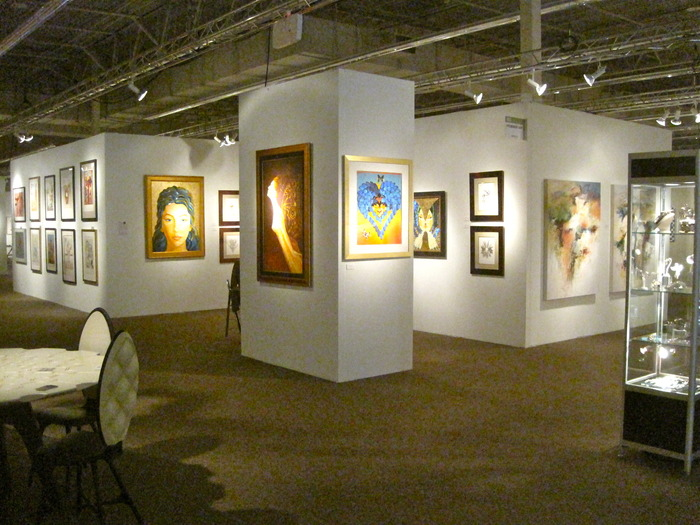 The booth at Art Naples 2012