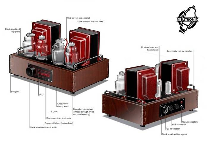 Cherry amplifier chassis conceptual drawings