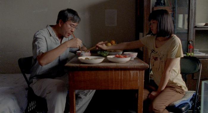 Nova (Little Punk) and her father (Robert Lin) (photo: Chen Xiaomeng)