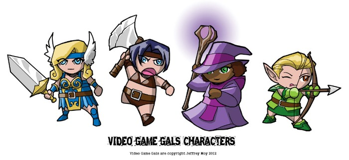 Chibi sized character stickers at $10 backing!