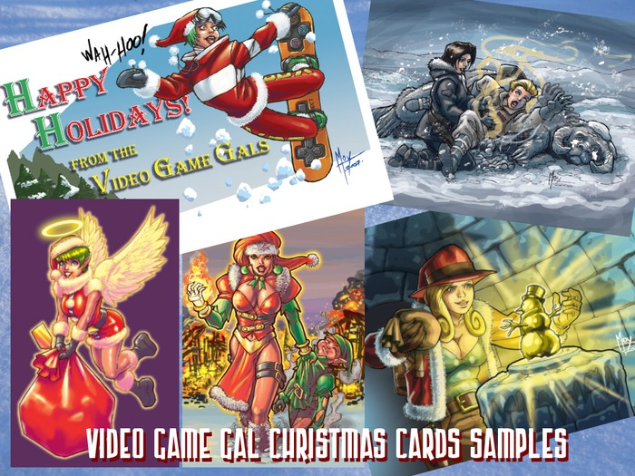 Cards of Holiday's Past...  My personal holiday card unlocked at $100.