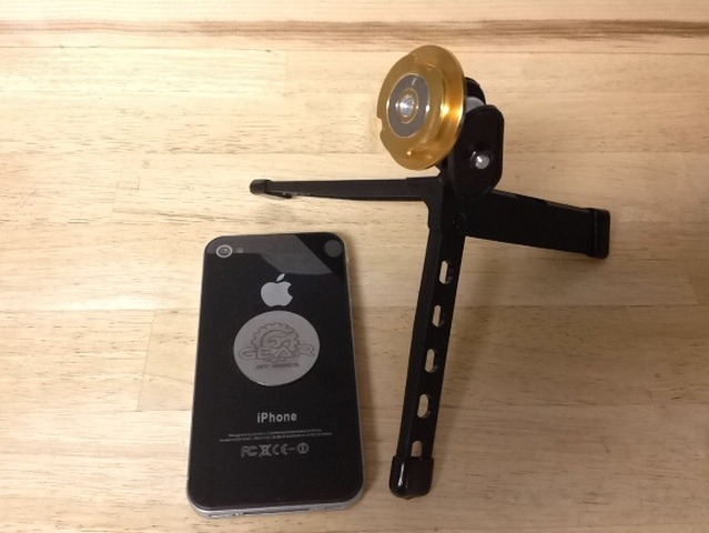 "$40 reward (Multi-device Part ""A"" Plus with Ultra-Pod) iPhone with Stainless Steel Mounting Disc and Part ""A"" on Ultra-Pod (1/4-20 Hole)"