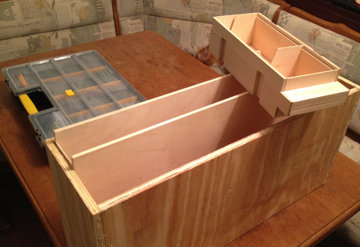 Magic Chamber with cavity visible. Concept prototype made from wood; actual product to be manufactured from high-impact break-resistant polyethylene.