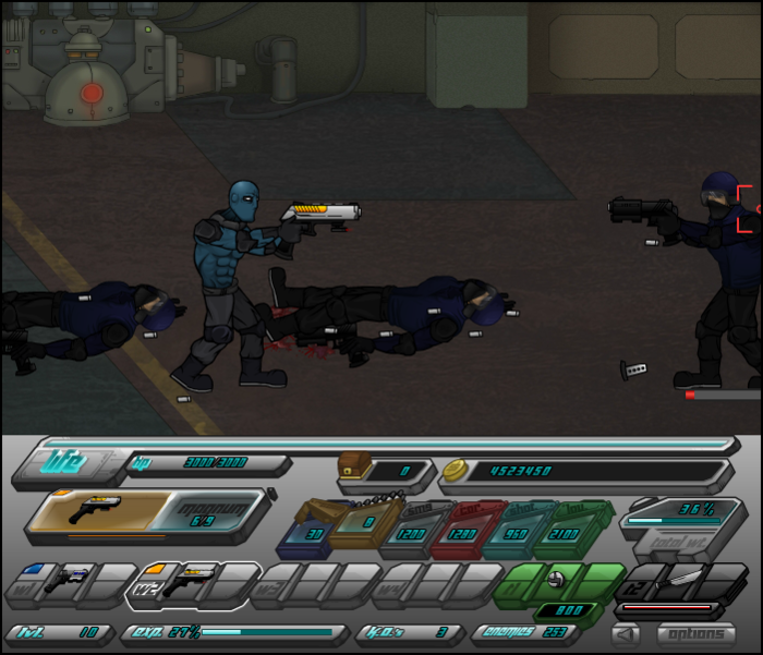 - play a demo with two handgun types (Pistol and Magnum), by clicking the pic -